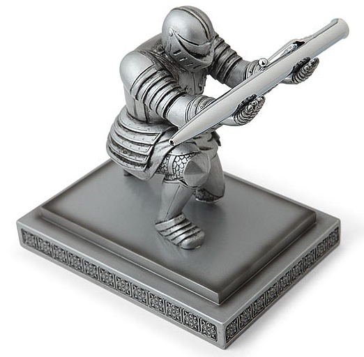 Your Pen Sir: Knight Pen Holder