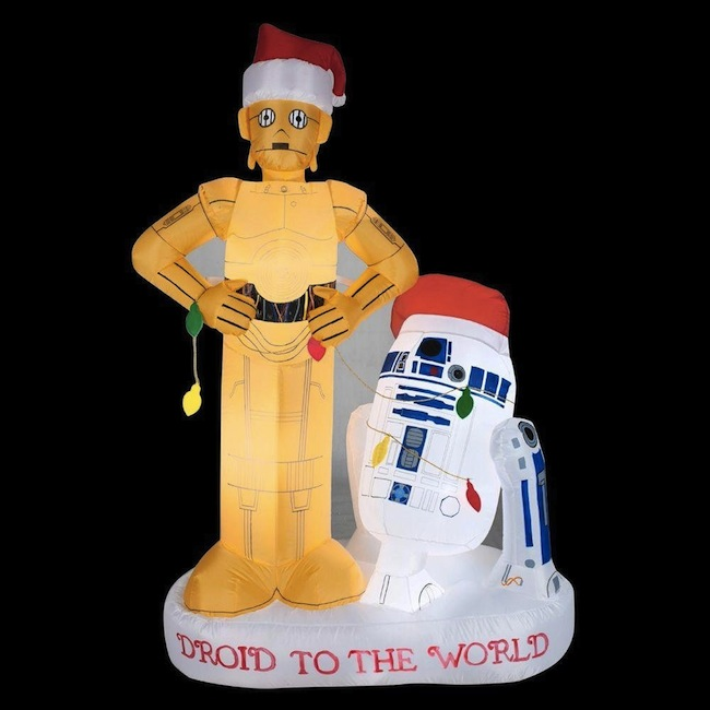 r2d2 c3po inflatable christmas - Inflatable Christmas Lawn Decorations