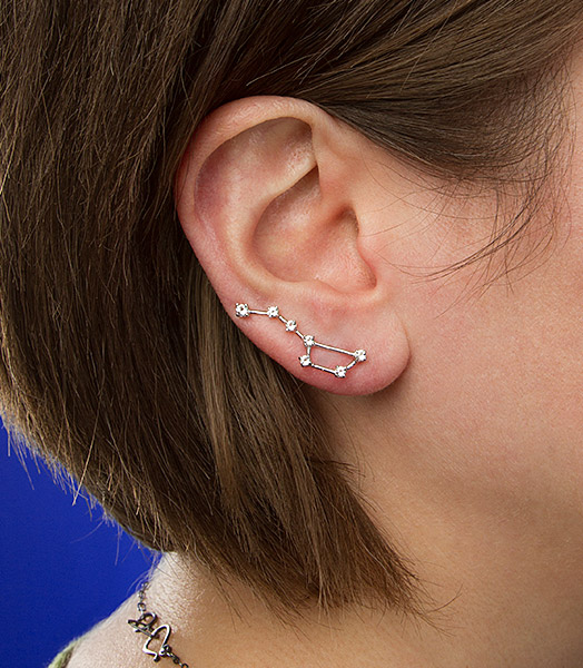 stars earrings in use