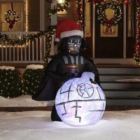 vader death star lawn christmas