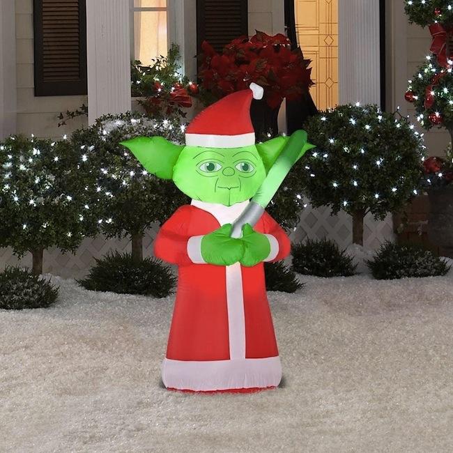 yoda inflatable christmas