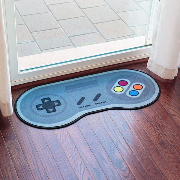 game controller doormat in use