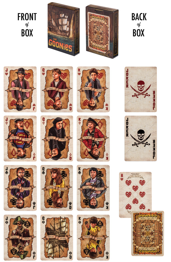 goonies playing cards details