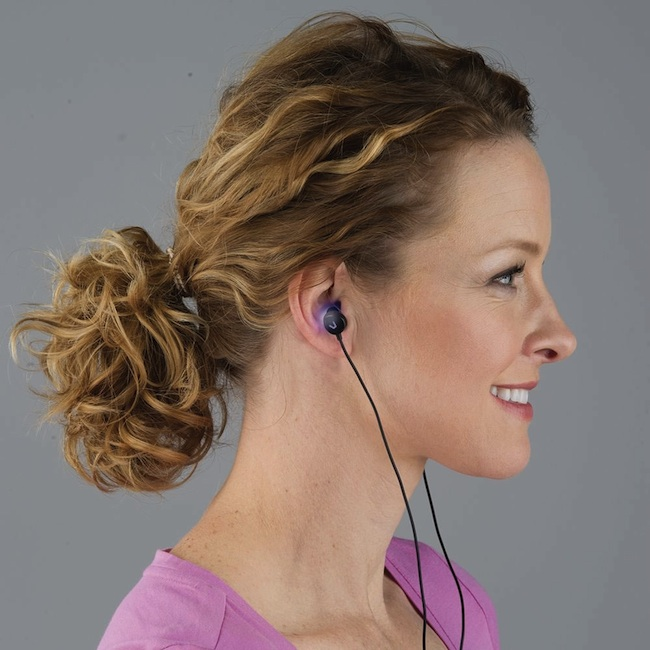 light therapy earbuds in use