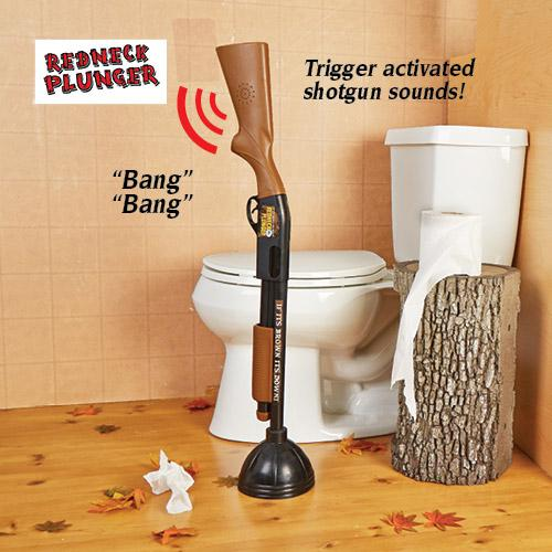 redneck toilet plunger craziest gadgets. Black Bedroom Furniture Sets. Home Design Ideas