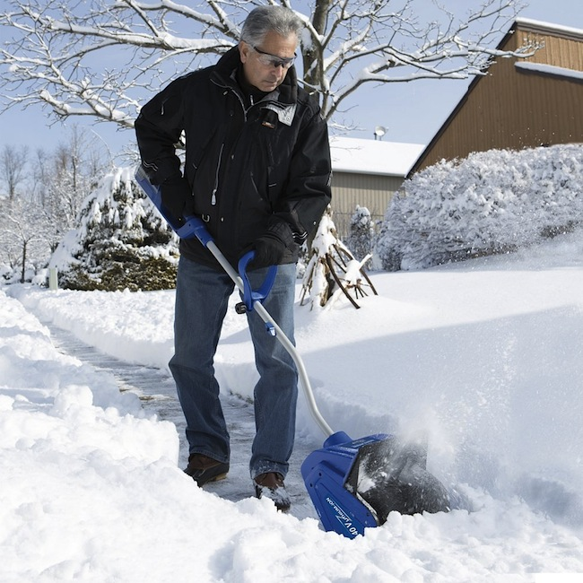 Cordless Electric Snow Blower Shovel Clears a Path