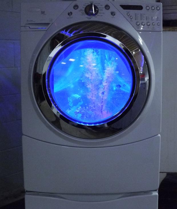 washing machine aquarium