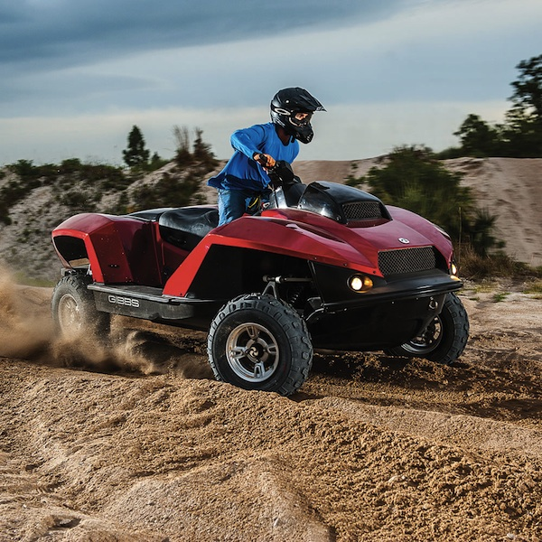 amphibious atv on land