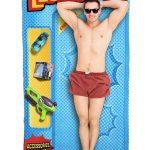 action figure beach blanket