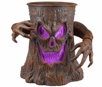 Spooky Animated Halloween Tree Stump Dish