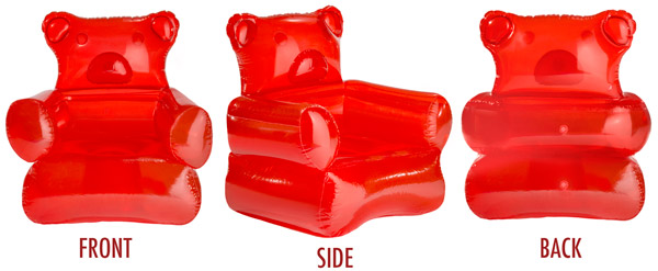 gummy bear inflatable chair
