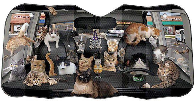 Cats Everywhere Windshield Sunshade