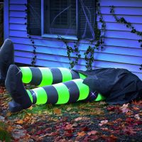 flattened kicking witch inflatable