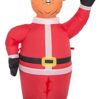 inflatable trump christmas santa