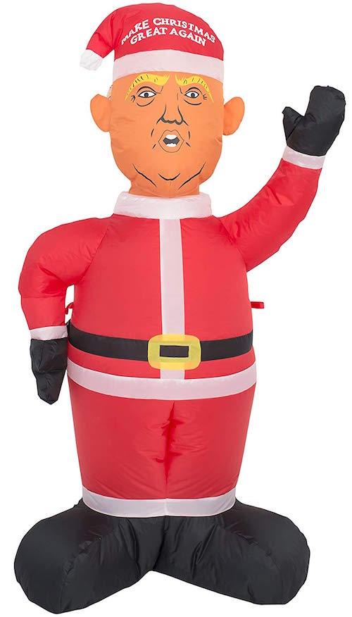 Inflatable Donald Trump Santa Decoration
