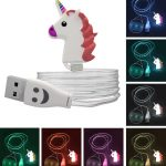 Light Up Rainbow Unicorn Phone Charging Cable