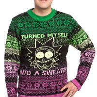 rick morty ugly christmas sweater