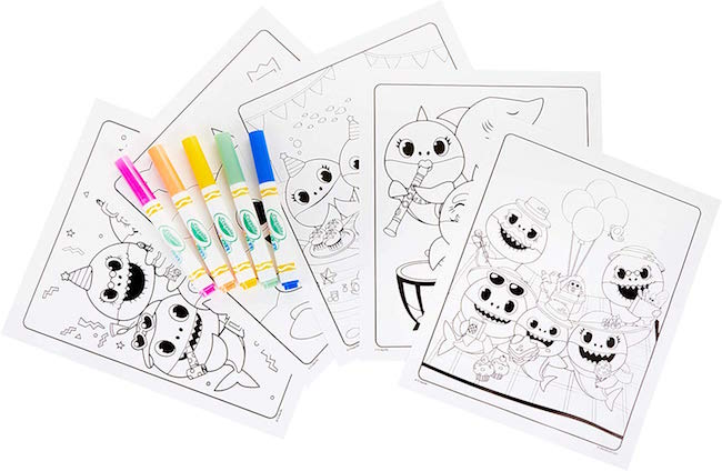 Baby Shark Mess Free Coloring Book