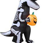 Inflatable T-Rex Halloween Skeleton