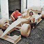 Life Size Car made of Matchsticks
