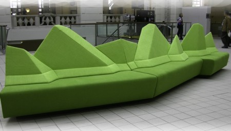 Modular Mountain Range Couch is Big Enough for the Entire von Trapp Family
