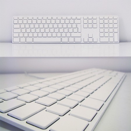 All White Apple Keyboard for the Touch Typist