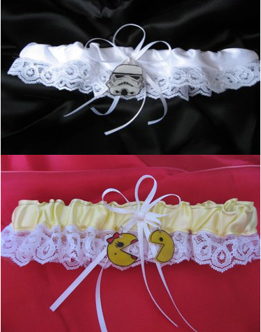 Storm Trooper and Pac-Man Garters for the Sexy Geekette