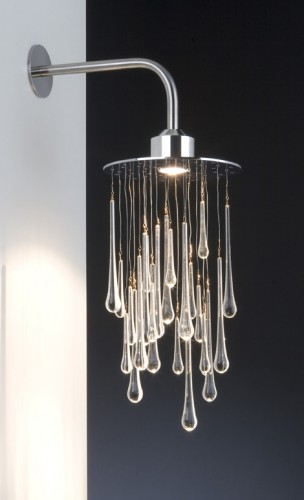 A Lamp That Looks Like a Shower of Water Droplets