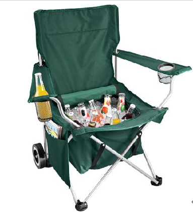 So Your Folding Beach Chair Has A Pair Of Cupholders In It That S Nice But Mine An Entire Cooler Under The Seat All One Does If