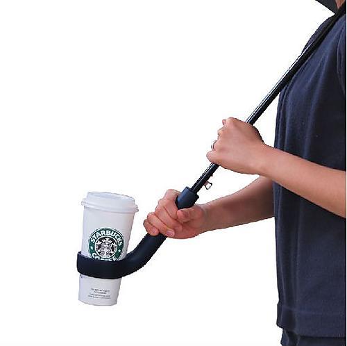 Coffee Cup Holding Umbrella