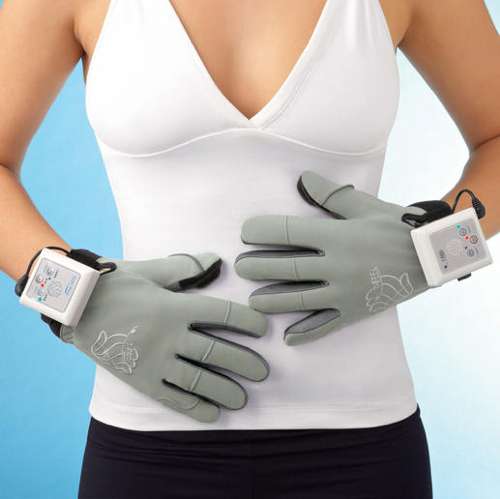 Vibrating Fingers Massage Gloves