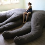 Giant Stuffed Cat Couch